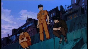 Kaneda, Kai et Kei au calme avant l'attaque du stade et que Kioko utilise Kai comme medium face à Kaneda