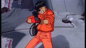 Kaneda utilise le laser face à Tetsuo