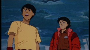 Kay et Kaneda ensembles après le départ de Testuo dans le film d'Akira
