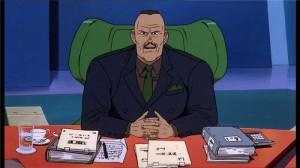 Le Colonel à son bureau se préparant au conseil d'administration de la ville