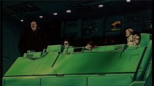 Le Colonel regarde les tests que subit Tetsuo après l'accident avec Takashi