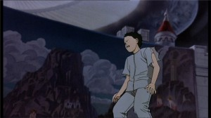Tetsuo combat Masaru, Kioko et Takashi qui ont peur de lui car il va réveiller Akira