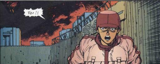 Kay surprise quand elle voit Kaneda après un attentat au stade olympique