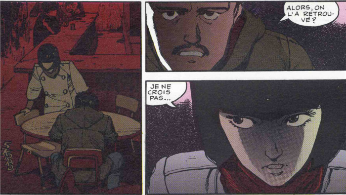 Kay et Ryu en réunion dans la bar de la bande de Kaneda