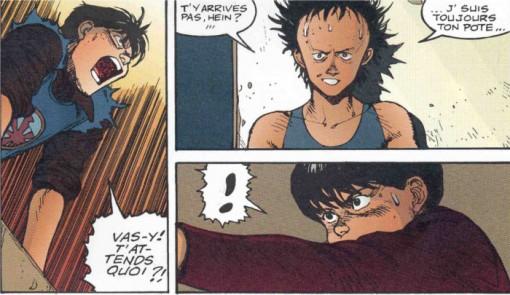 Kaneda face à Tetsuo mais il ne peut pas se résoudre à le tuer