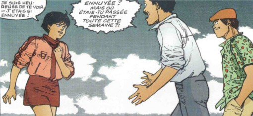 Kay loge avec Kaneda pour trouver la pilule qu'il a volée à Takashi