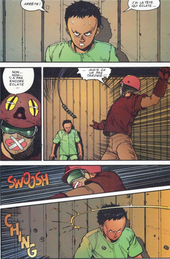 Page 1 du tome 2 d'Akira, version couleur
