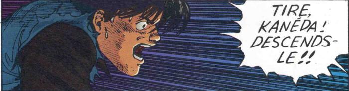 Yamagata demande à Kaneda de tuer Tetsuo mais Kaneda hésite car il considère Tetsuo encore comme son ami