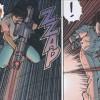 Kaneda tire sur Tetsuo avec un laser afin de le tuer et venger son gang massacré par Tetsuo
