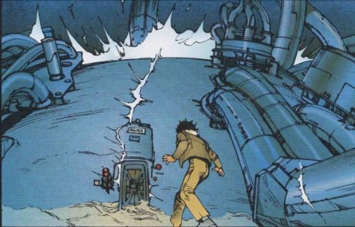 Tetsuo voit les tirs des lasers des militaires détruire la chambre où Akira était conservé