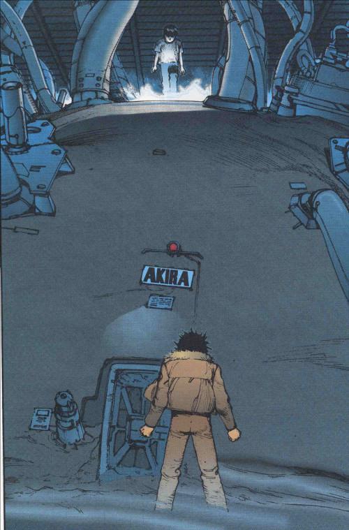 Tetsuo rencontre finalement Akira qui était conservé dans une chambre Dewar