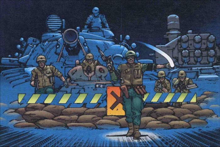 Barrage policier suite au réveil d'Akira
