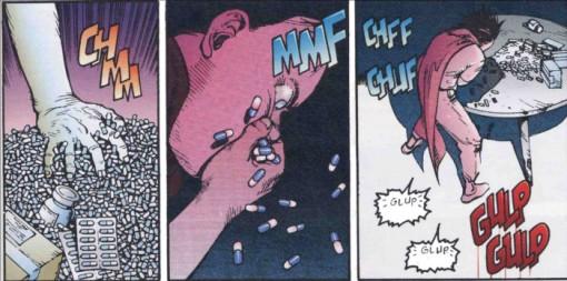 Tetsuo se drogue pour échapper à ses maux de tête