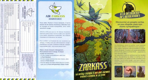 dépliant d'assurance Air Zarkass (face)