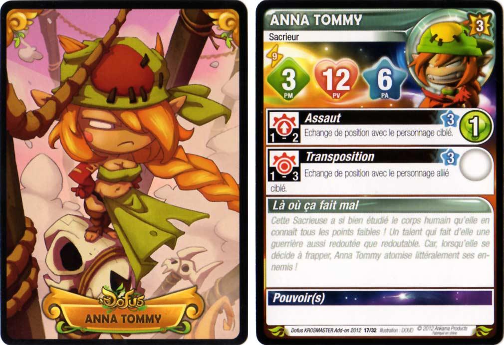 Carte de caractéristiques d'Anna Tommy - Krosmaster