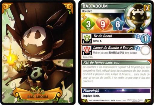 Carte de caractéristiques de Bad Aboum (Krosmaster)