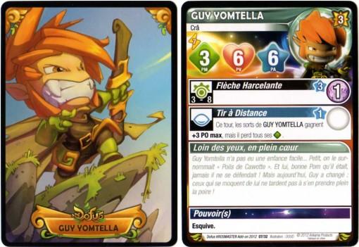 Carte de caractéristiques de Guy Yometella (Krosmaster)