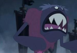 Hélène se transforme en monstre (Dofus)