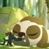 un pandawa cherche à récupérer de la morve de un Péki Péki