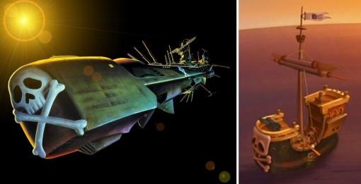 Le bateau de Kerubim est une allusion à l'Atlantis d'Albator