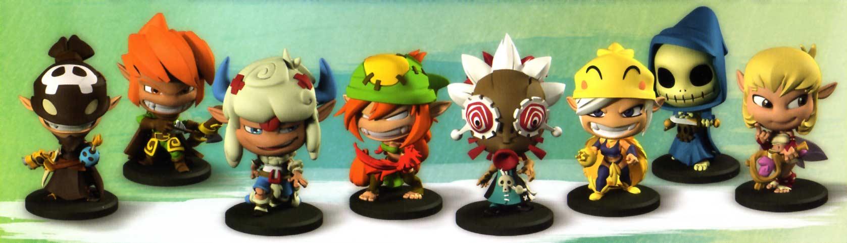 Krosmaster, les 8 figurines