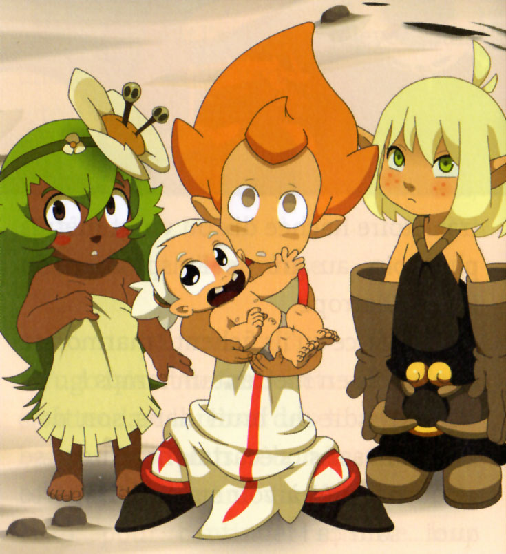 Evangelyne, Amalia, Tristepin et Ruel enfants