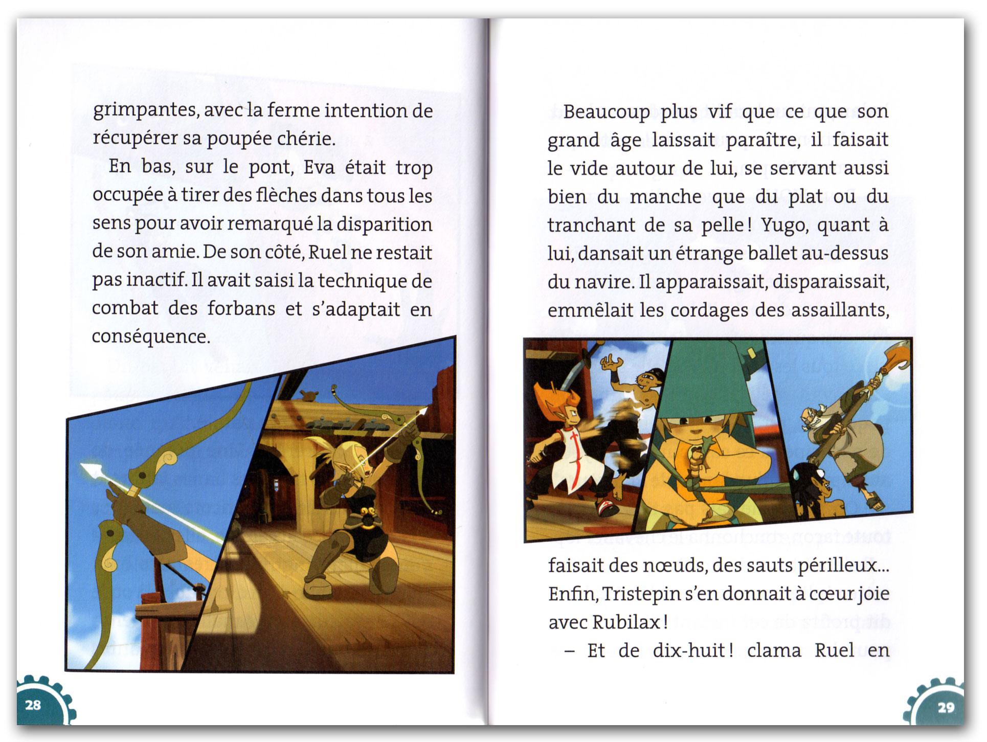 La mise en page des Romans Wakfu est excellente