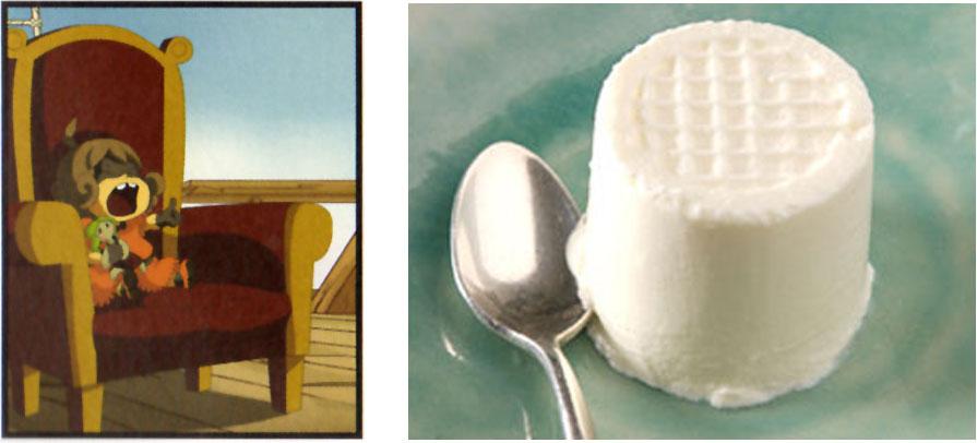 Peti Smiss est un clin d'œil au fromage blanc appelé Petit Suisse