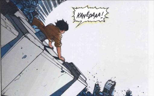 Kay appelle Kaneda lors de la destruction de Neo Tokyo alors qu'il est au coeur de l'explosion