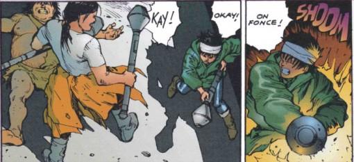 Kay et Chiyiko se défendent face aux armées qui veulent mettre la main sur Kioko et Masaru