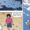 Kaori et Akira voient des gélules de drogue dans l'eau jetées par Tetsuo qui veut ne plus être dépendant