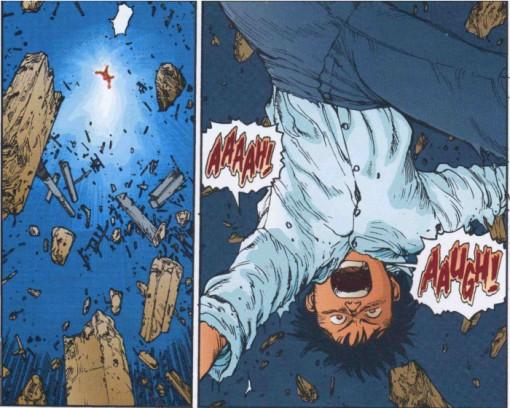 """Kaneda revient après une explosion de type """"Akira"""" par Tetsuo"""