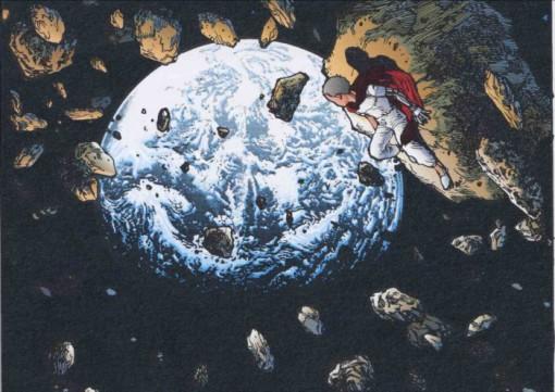 Saccage de la lune par Tetsuo pour montrer aux hommes de l'empire sa puissance