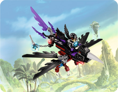 Mise en situation du set Lego : Legends of Chima #70 000 Le corbeau planeur de Razcal