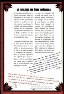 Page 146 du le livre des Sith sur la vision de l'Empire par Dark Sidious (Star Wars)