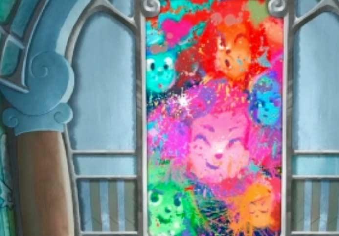 La toile de Kerubim représente des visages de Lou