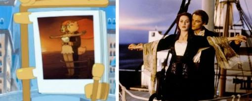 Ce plan est un clin d'oeil à une scène de Titanic