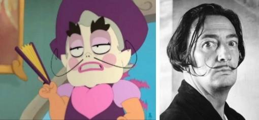 La moustache de Vax est une allusion à Salvador Dali.