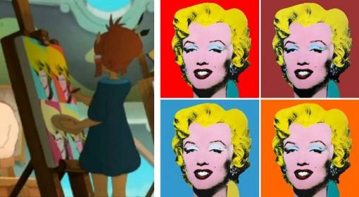 La toile de Karala fait allusion au travail de l'artiste Andy Warhol (Kerubim)