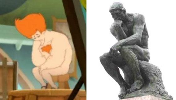 iop penseur de Rodin (Kerubim)
