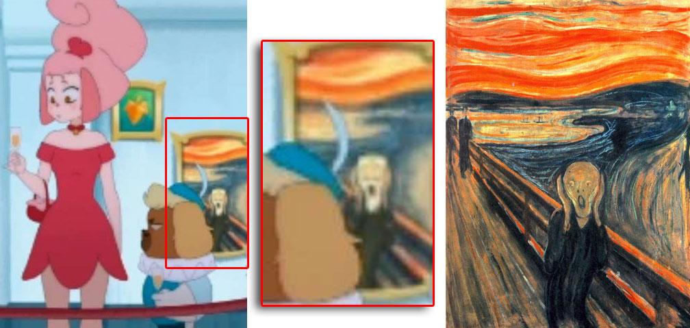 Ce tableau qui fait référence au tableau Le Cri de Munch (Kerubim)