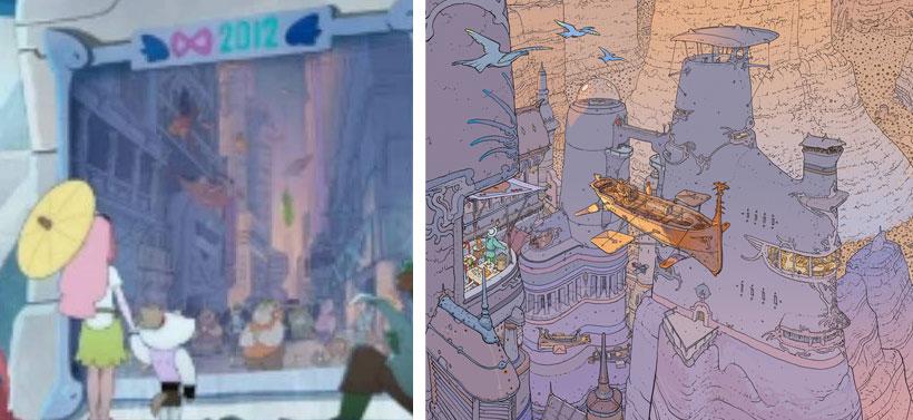 L'affiche dans Kerubim rend hommage à l'auteur de BD Mœbius