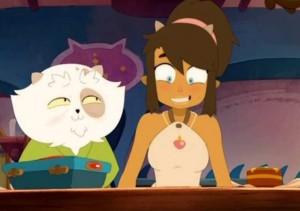 Kerubim offre un pendentif à Simone