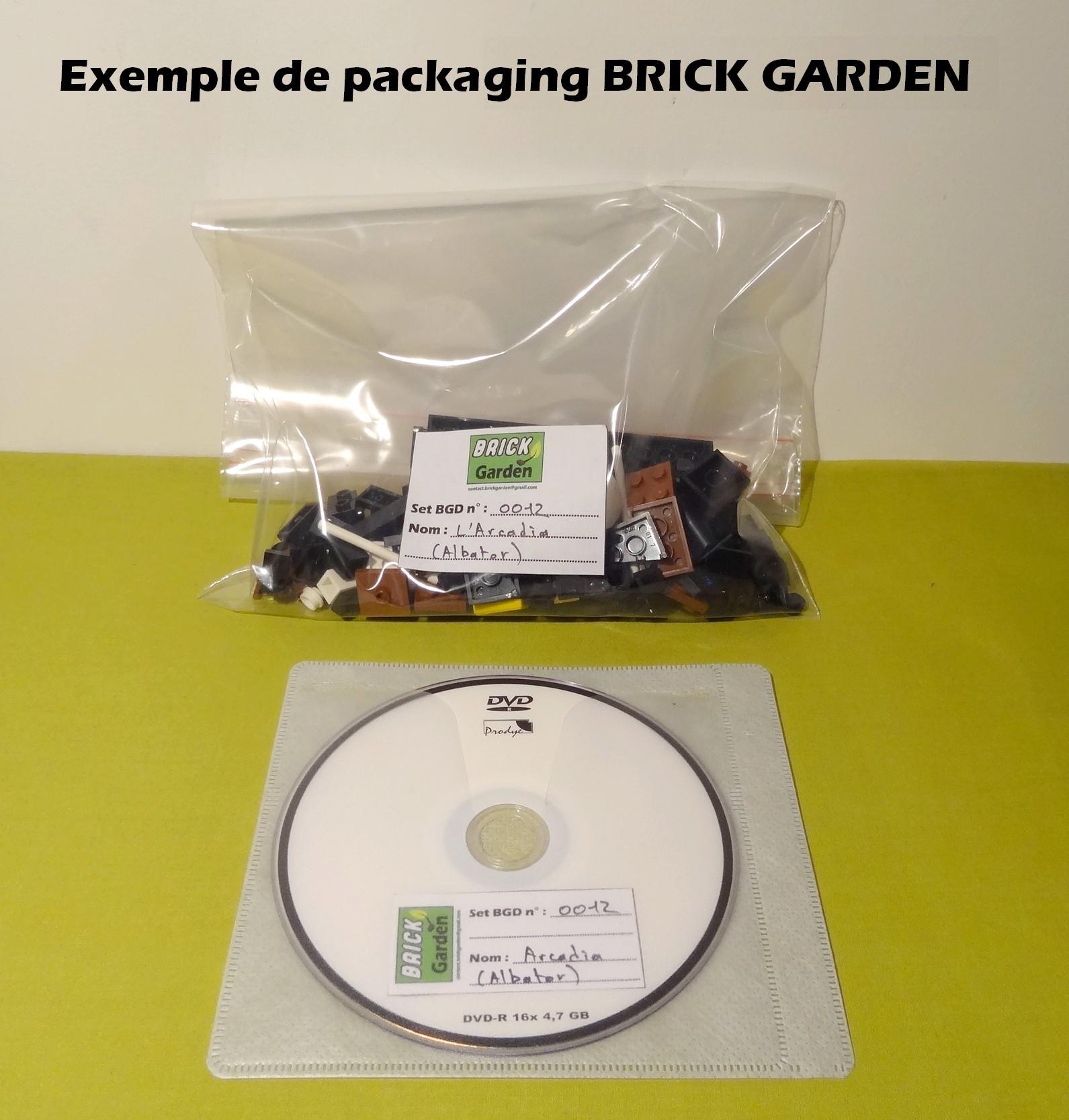 Arcadia démonté livret en sachet (Brick Garden)