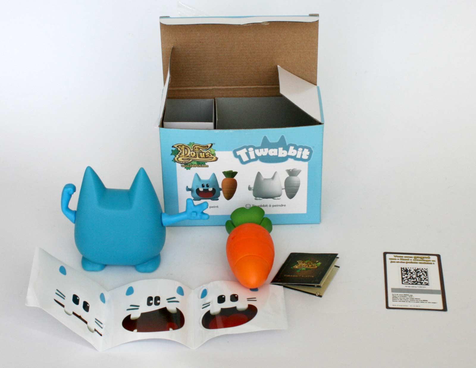 packaging ouverture : Figurine Tiwabbit (Dofus)