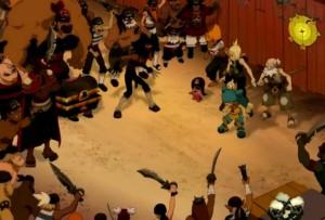 Yugo et Elaine affrontent les Roublard de Félinor (Wakfu)