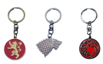 Porte Clé Game of Throne Lannister, Stark et Targaryen