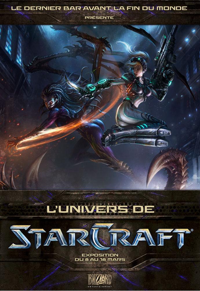 Affiche exposition dernier bar Starcraft