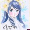 Gensodo dessin original main (shikishi S17) - 幻想堂 S17