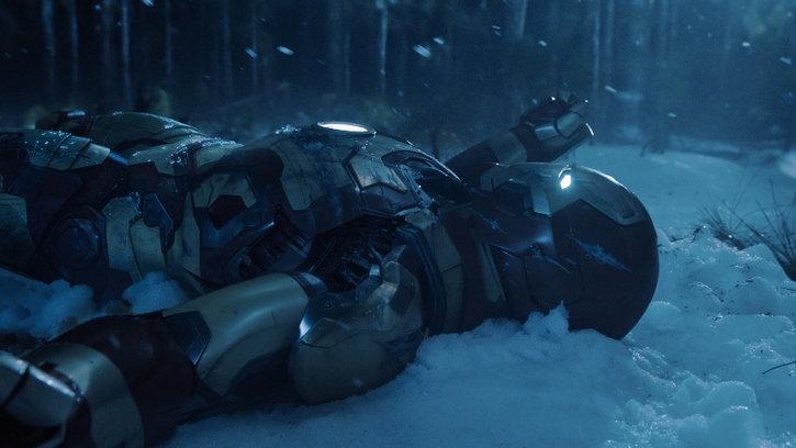 Iron Man cassée après la tentative de destruction de sa maison